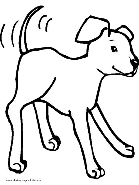 happy puppy color page cartoon dog coloring pages cartoon