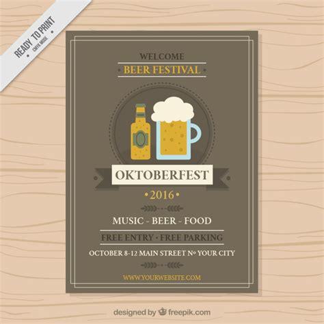 Kostenlose Vorlage Oktoberfest Oktoberfest Festival Brosch 252 Re Vorlage Der Kostenlosen Vektor