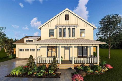 two story farmhouse 2 story modern farmhouse plan with front porch and rear