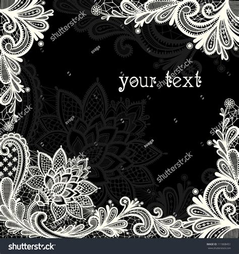 21867 Blackwhite Lace lace background place text black white stock vector 111808451