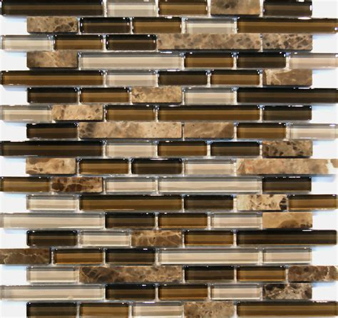 sle emperor marble brown glass blends mosaic tile
