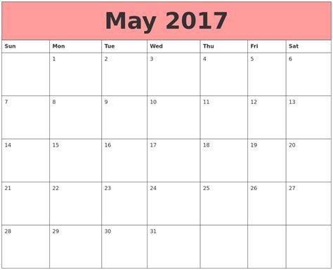 Lounge72 Pdf Calendars by May 2017 Calendar Template May 2017 Calendar