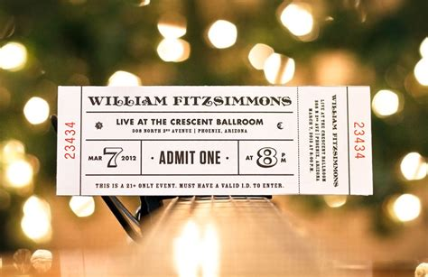 a collection of well designed event tickets
