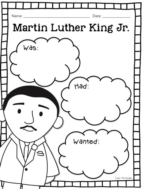 kindergarten activities for martin luther king jr color me kinder martin luther king jr was a man of peace