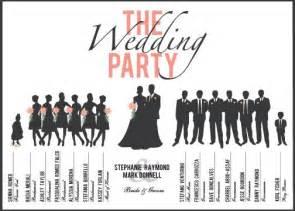 custom printable wedding party program card