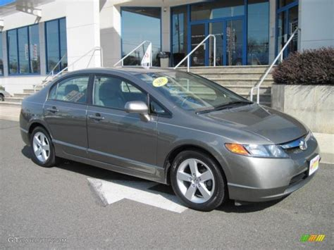 grey honda civic 2008 galaxy gray metallic honda civic ex l sedan 50690616