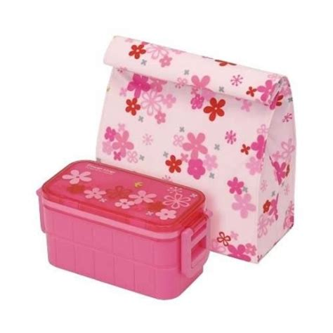 Bag A Bargain With This Flower Set by Insulated Bag Pack 2 Tier Bento Lunch Box Flower Set