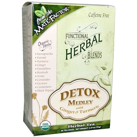 California Gold Detox by Mate Factor Organic Functional Herbal Blends Detox