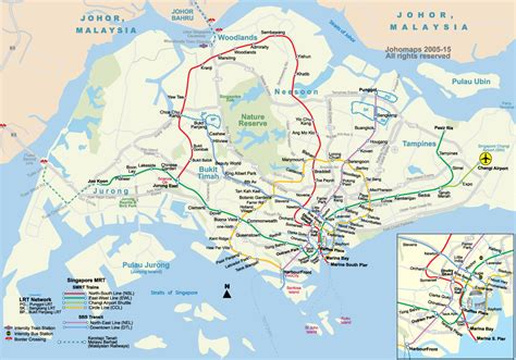 map of singapore metro map of singapore johomaps