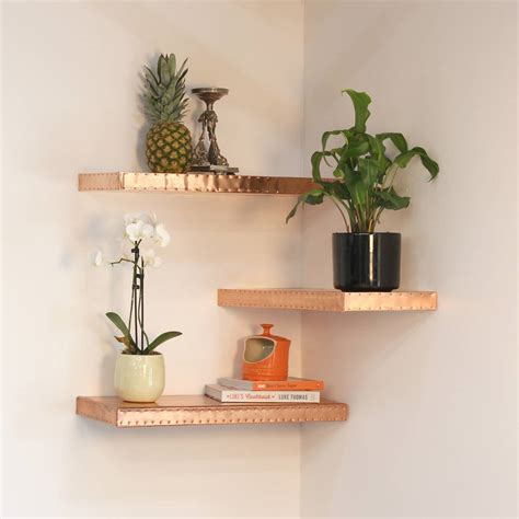 decorative accessories for shelves hand finished copper shelf by mr j designs