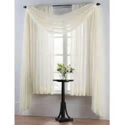 Curtains On A Window Smart Sheer Insulating Voile Window Curtain Panel House