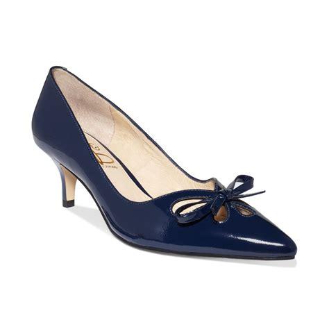 Kitten Heels Pumps lyst joan david kitten heel pumps in blue