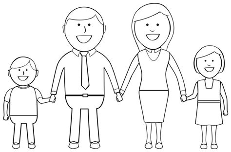 coloring pages of nuclear family free coloring pages of extended family