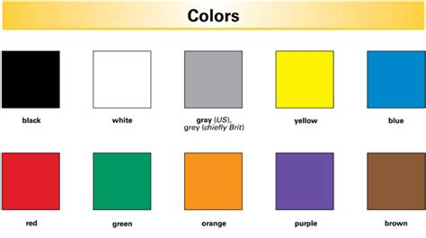color starting with a color definition for language learners from
