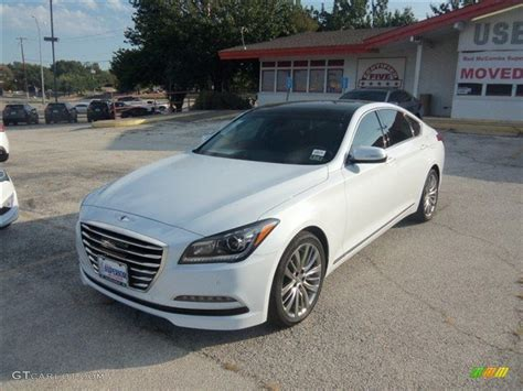 2015 casablanca white hyundai genesis 5 0 sedan 96290127