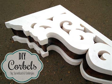 Diy Wood Corbels Diy Corbels For A Breakfast Bar Reality Daydream