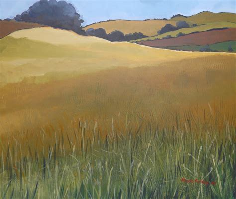 the gallery for gt wheat field painting