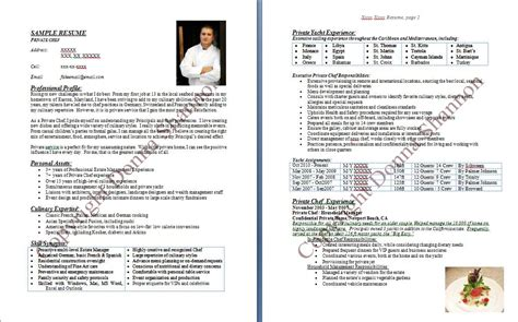 chef resume sle writing guide 28 images chef resume sle exles sous chef free cook resume