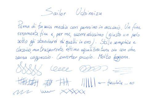 test calligrafia recensione sailor uchimizu penciclopedia