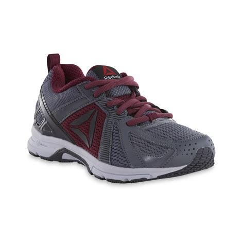 sears womens athletic shoes reebok s runner athletic shoe gray burgundy shop