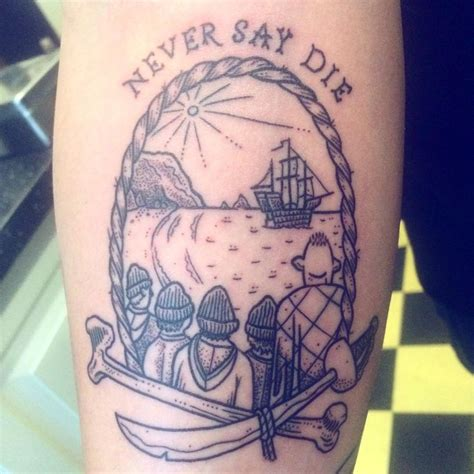 never say die tattoo 25 best ideas about goonies on