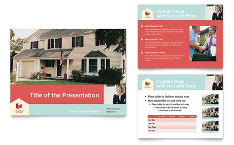 Home Real Estate Powerpoint Presentation Powerpoint Template Realtor Listing Presentation Template