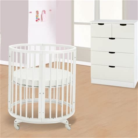 Mini Crib With Drawers Stokke Sleepi 2 Nursery Set Mini Bundle Crib And 5 Drawer Dresser In White Free Shipping