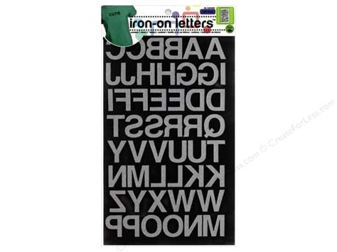 iron on letters dritz iron on block letters 1 in black createforless 1339