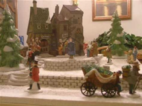 youtube make a village display dept 56 display poinsettia point
