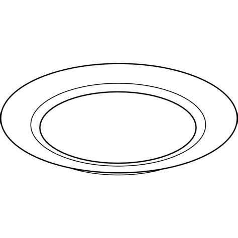 Plate For Black plate clipart black and white 8 clipart station