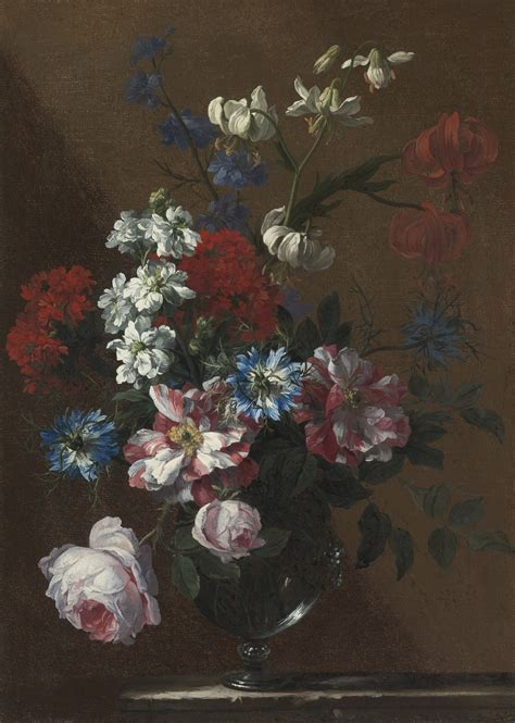 Glass Vase Painting File Jean Baptiste Monnoyer Bouquet Of Flowers In A Glass