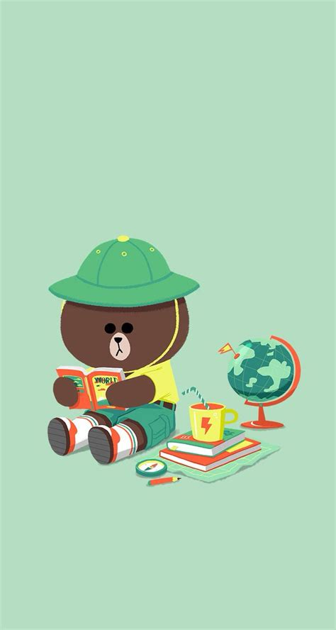 Wallpaper Sticker Line Black White 17 best images about line friends on home and awesome