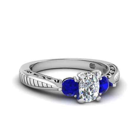 cushion cut vintage style engagement rings cushion cut vintage style three engagement ring with