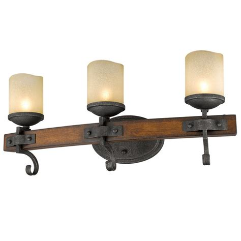 Rustic Bathroom Lights Rustic Toscano 3 Light Bath Vanity Light Shades Of Light