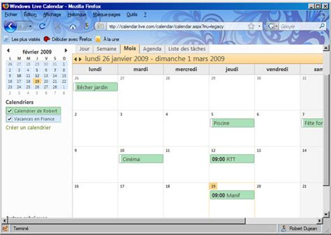 Calendrier Live Windows Live Et L Outil Calendrier