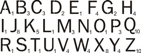 scrabble font stencil scrabble style lettering two size choices stencil