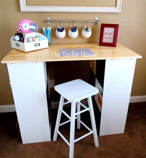 diy craft table diy inexpensive craft table with storage the house