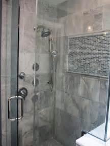 Gray Marble Bathroom Showers