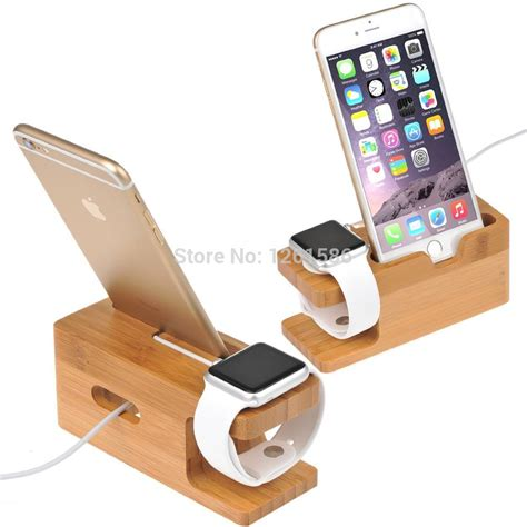100 bamboo charging dock station bracket cradle stand holder for apple iphone 6plus 6