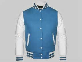 Custom Letterman Jackets Cheap Custom Letterman Jackets Made Of Columbia Blue Wool And White Genuine Leather