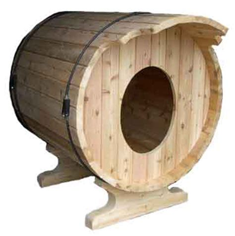 dog house barrel eco chic pet houses offer creature comforts green roof dog cat bird houses