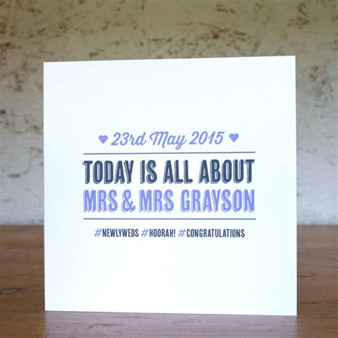 Wedding Hashtag Cards by Personalised Hashtag Wedding Card By The Design Conspiracy