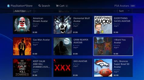 ps4 themes and avatars filtering through the hundreds of awful ps4 avatars and