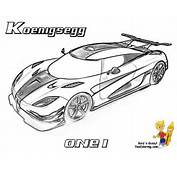 Car Coloring Koenigsegg ONE1 Http//wwwyescoloringcom/race