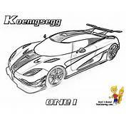Car Coloring Koenigsegg ONE1 Http//wwwyescoloringcom/race