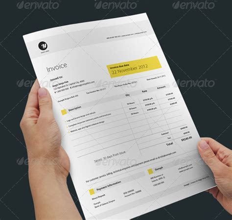 web bid 20 beautifully designed indesign invoice templates pixel
