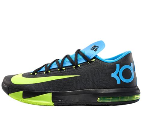 kevin durant nike basketball shoes nike kd6 kevin durant yellow black basketball shoes