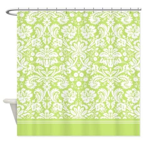 pale green shower curtain light green damask shower curtain by inspirationzstore
