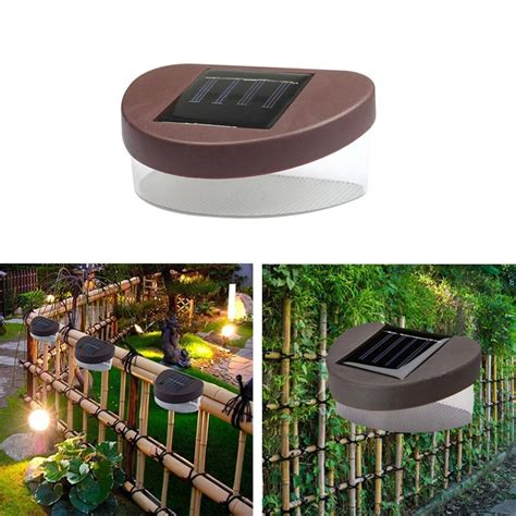 landscape lighting high quality high quality new outdoor solar powered led path wall landscape mount light l garden fence in