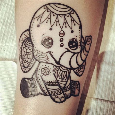 10 cute elephant tattoos designs catanicegirl